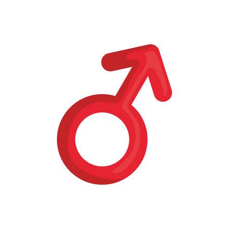 gender male symbol icon vector illustration design Illustration