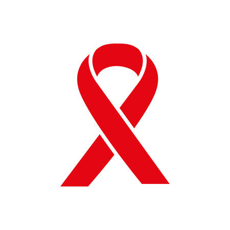 red ribbon hiv fight vector illustration design Vectores