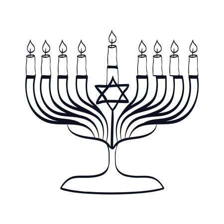 jewish candlestick isolated icon vector illustration design