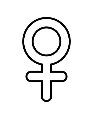 gender female symbol icon vector illustration design