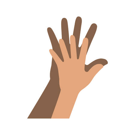 hands human friendly icons vector illustration design
