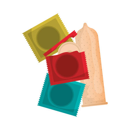 condoms protection isolated icons vector illustration design Ilustracja