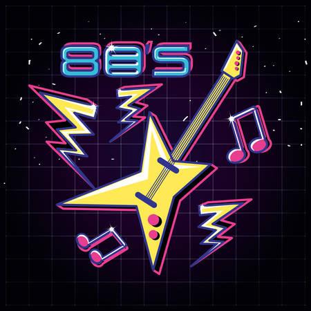 electric guitar pop art style vector illustration design  イラスト・ベクター素材