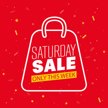 super saturday sale offer only this week discount vector illustration Ilustração