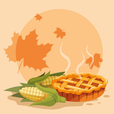 Apple pie icon over white background, vector illustration Illustration
