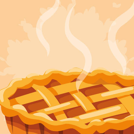Apple pie icon over white background, vector illustration Vettoriali