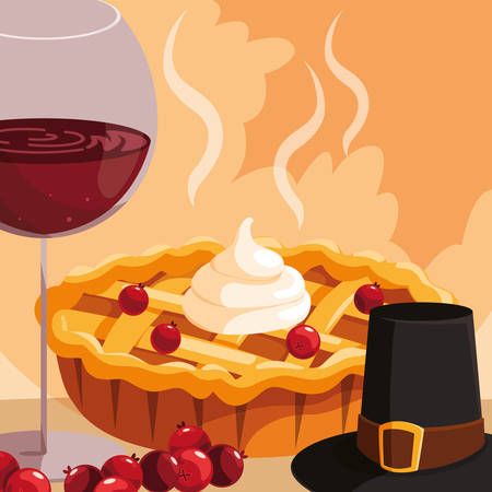 Apple pie icon over white background, vector illustration  イラスト・ベクター素材
