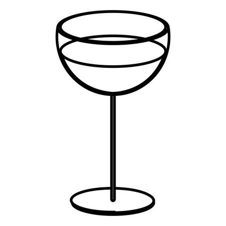 Wine glass icon over white background, vector illustration Illustration
