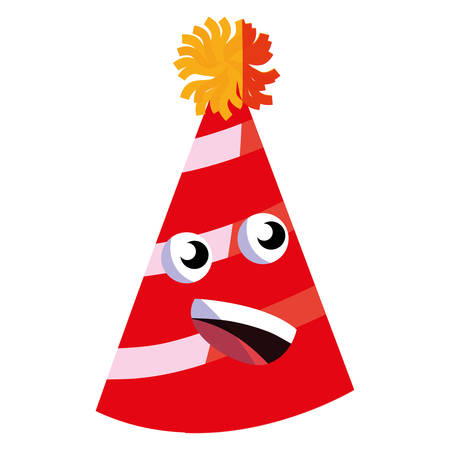 cartoon party hat over white background, vector illustration