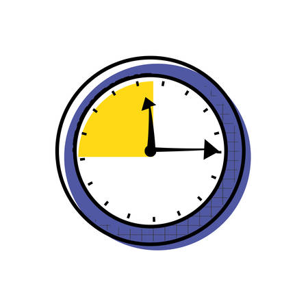 watch time isolated icon vector illustration design Vectores