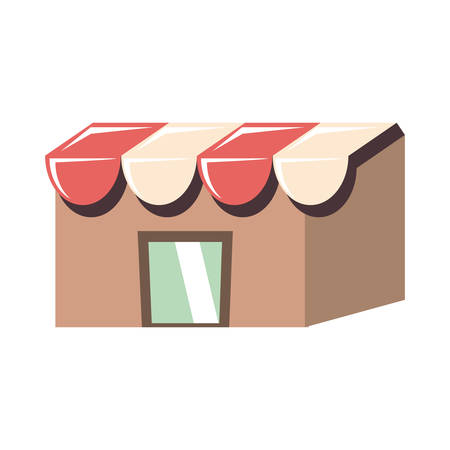 store building facade icon vector illustration design