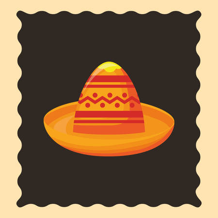 hat mexican culture traditional poster vector illustration Illustration