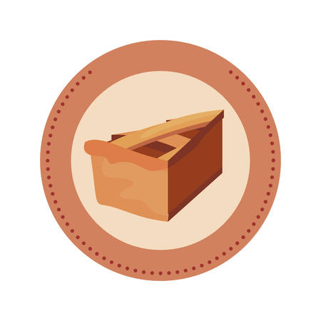 slice pie cake label design vector illustration