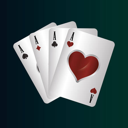 cards aces suits bet casino gamble vector illustration Vectores