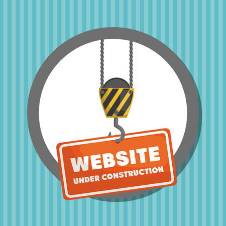 website under construction banner vector illustration design
