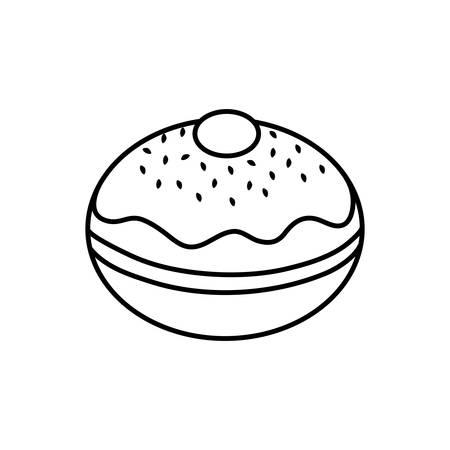 hanukkah donuts sweet icon vector illustration design