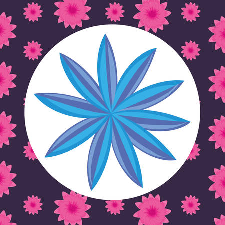 tropical flower icon over colorful background, colorful design, vector illustration Ilustrace