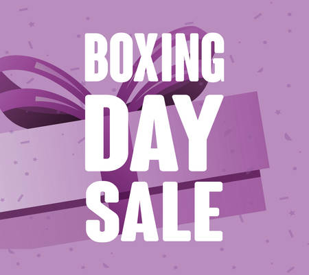 boxing day sale offer commerce vector illustration
