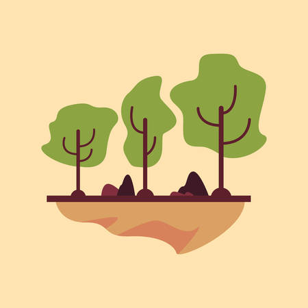 trees nature forest panorama season vector illustration 写真素材 - 113366564