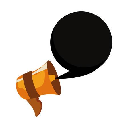 online shopping speaker speech bubble vector illustration