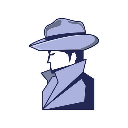 cyber security agent icon vector illustration design