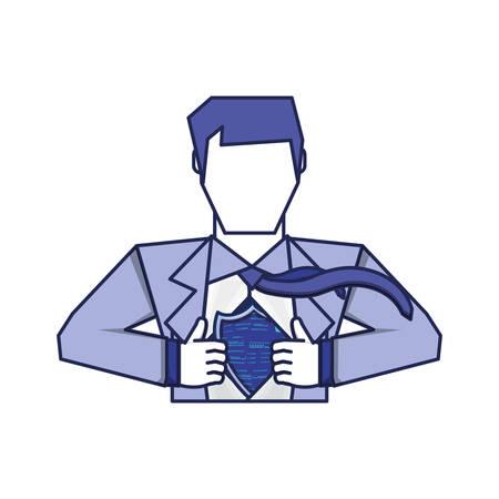 super hero avatar character vector illustration design Illustration