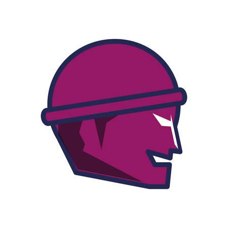 head of thief man avatar character vector illustration design Ilustração