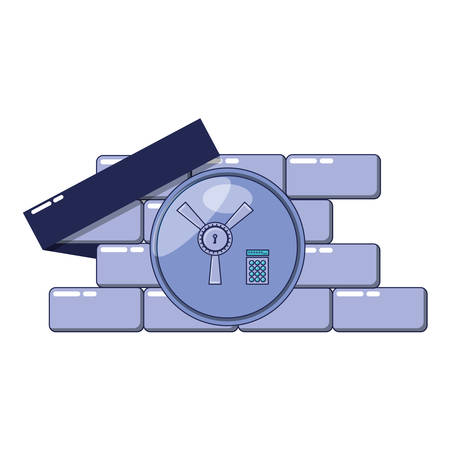 safe box door open with vector illustration design