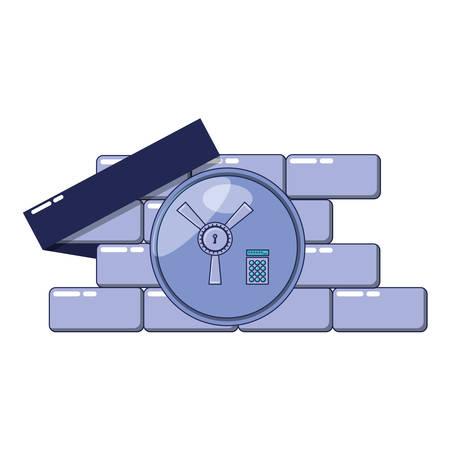 safe box door open with vector illustration design