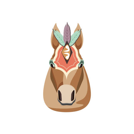 head of circus horse isolated icon vector illustration design