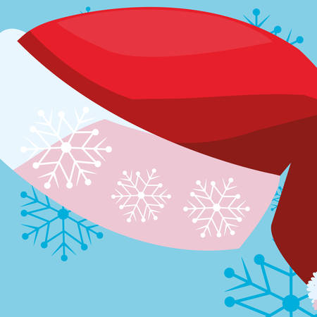 Christmas hat icon over white background, vector illustration