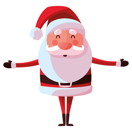 Santa claus over white background, vector illustration