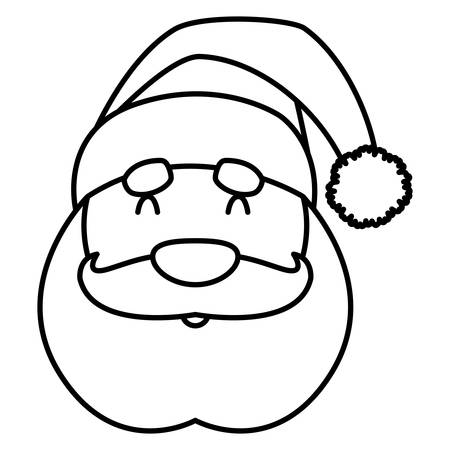 Cartoon santa claus icon over white background, vector illustration Illustration