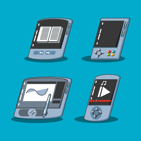 graphic tablet with set devices vector illustration design Ilustração