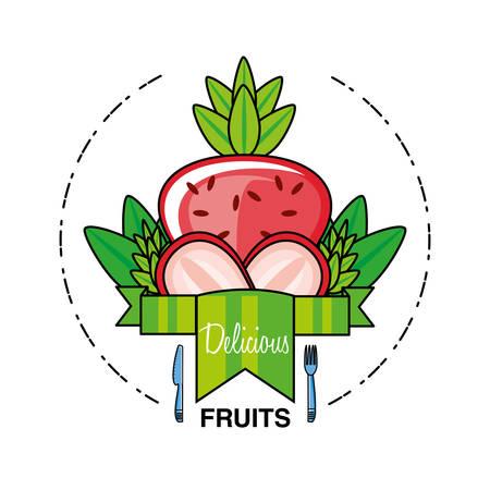 fresh strawberries fruit isolated icon vector illustration design