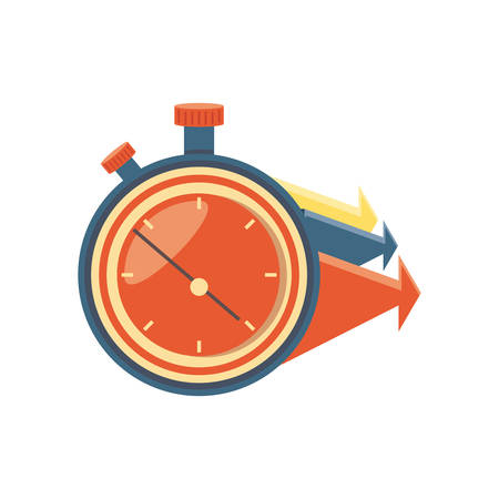 chronometer timer with arrows vector illustration design Stock Illustratie