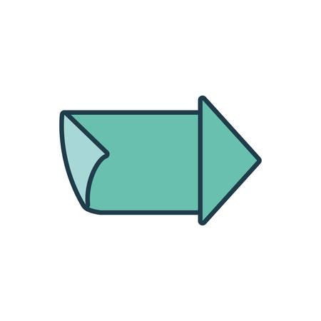 arrow guide seal stamp vector illustration design Illustration