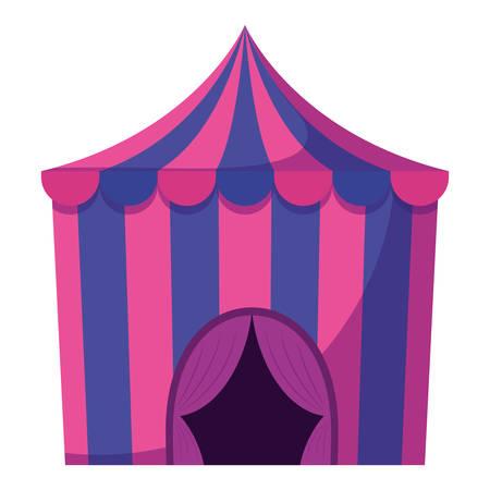 circus tent entertainment icon vector illustration design 免版税图像 - 114178576