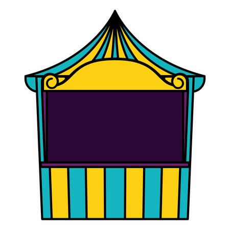 carnival kiosk entertainment icon vector illustration design