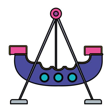 pirate ship of amusement park vector illustration design
