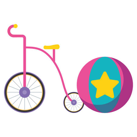 cute trycicle toy icon vector illustration design