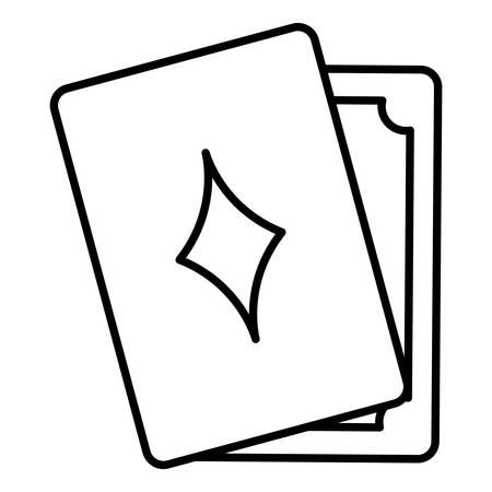 poker cards game icon vector illustration design Vektoros illusztráció