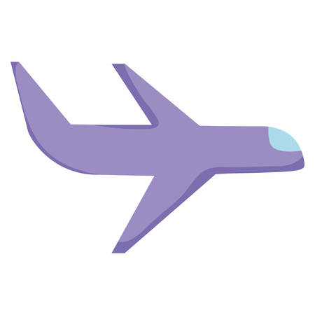 airplane icon Over white background, vector illustration