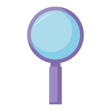 Magnifying glass Over white background, vector illustration