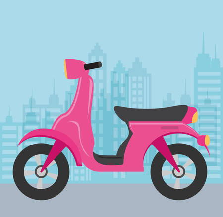 Motorcycle over blue background, colorful design. vector illustration Illusztráció