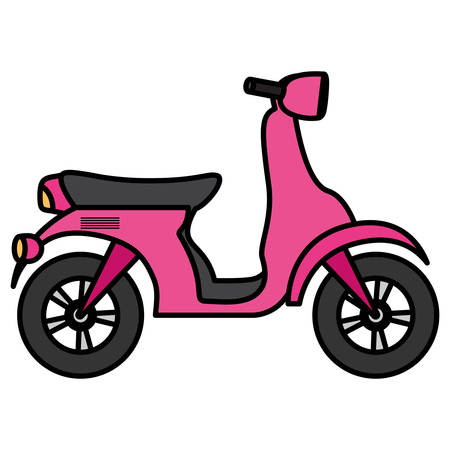 Motorcycle icon over white background, vector illustration