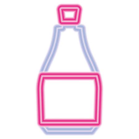 bottle icon over white background, vector illustration Illustration