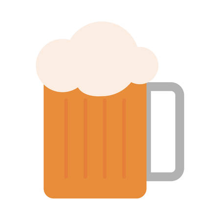 Beer jar icon over white background, vector illustration