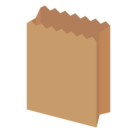 paper bag icon over white background, vector illustration
