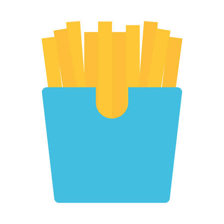 French fries icon over white background, vector illustration